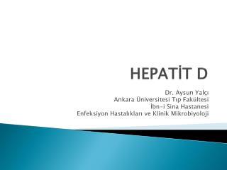 HEPATİT D