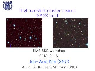 High redshift cluster search (SA22 field)