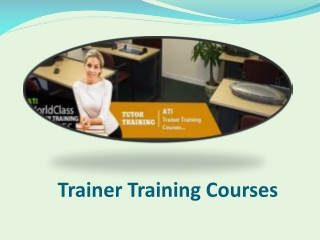 Trainer Training Course