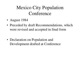 Mexico City Population Conference