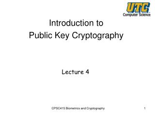 Introduction to Public Key Cryptography