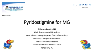 Pyridostigmine for MG