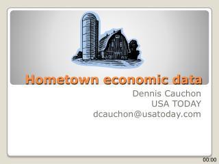 Hometown economic data