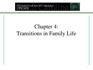Chapter 4: Transitions in Family Life