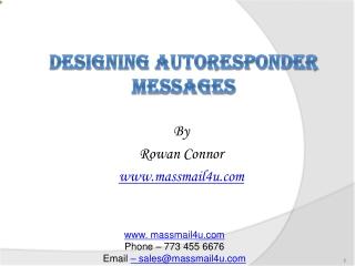 Designing AUTORESPONDER MESSAGES