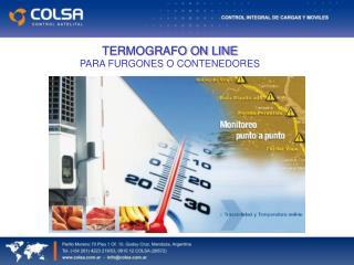 TERMOGRAFO ON LINE PARA FURGONES O CONTENEDORES