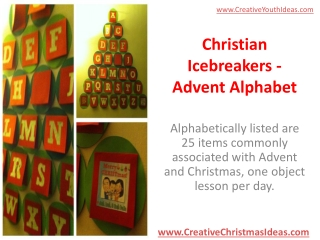 Christian Icebreakers - Advent Alphabet