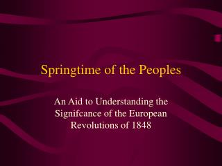 Springtime of the Peoples