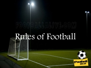 The Rules of Football