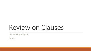 Review on Clauses