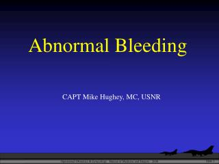Abnormal Bleeding
