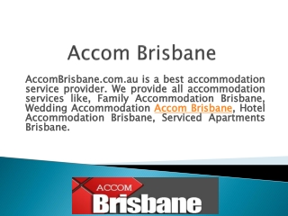 Hotel and Apartment Accommodation in Brisbane Australia