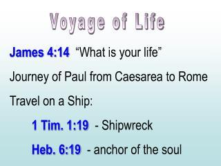 Voyage of Life