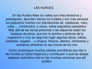 LAS HURDES