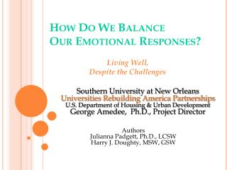 How Do We Balance Our Emotional Responses?