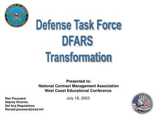 Defense Task Force DFARS Transformation