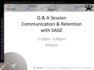 Q & A Session Communication & Retention with SAGE