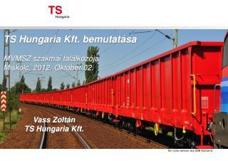 TS Hungaria Kft. bemutatása MVMSZ szakmai találkozója Miskolc, 2012.  Október  02.