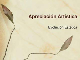 Apreciaci ón Artística