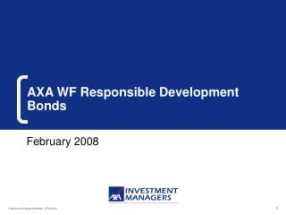 AXA WF Responsible Development Bonds
