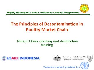 The Principles of Decontamination in Poultry Market Chain