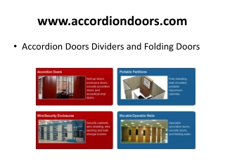 Good quality Accordion Folding Doors and Room Dividers