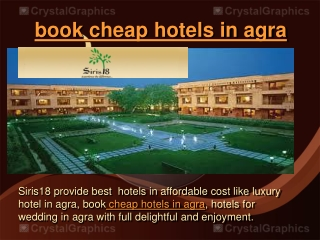 book cheap hotels in agra