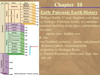 Early Paleozoic Earth History