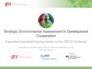 Strategic Environmental Assessment in Development Cooperation