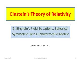 Einstein's Theory of R elativity