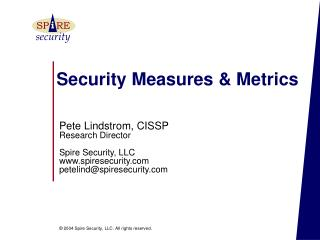 Security Measures & Metrics