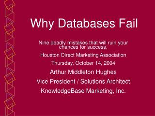 Why Databases Fail