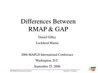 Differences Between RMAP & GAP