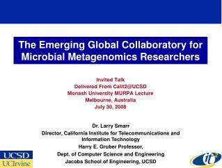 The Emerging Global Collaboratory for Microbial Metagenomics Researchers