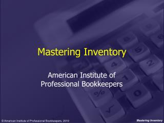 Mastering Inventory
