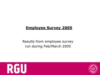 Employee Survey 2005