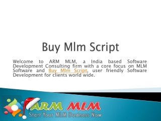 Buy Mlm Script, Software from Armmlm.com