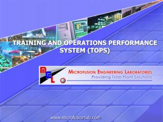 TRAINING AND OPERATIONS PERFORMANCE SYSTEM (TOPS)