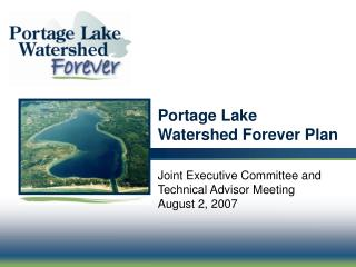 Portage Lake  Watershed Forever Plan