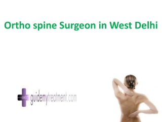 ortho spine Surgeon in West Delhi