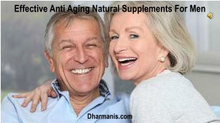 Effective Anti Aging Natural Supplements For Men