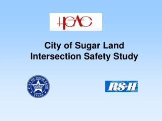 City of Sugar Land Intersection Safety Study
