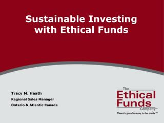 Sustainable Investing with Ethical Funds