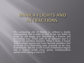 Manila flights and attractions