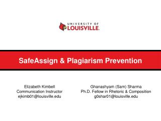 SafeAssign & Plagiarism Prevention