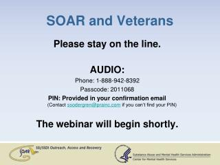 SOAR and Veterans