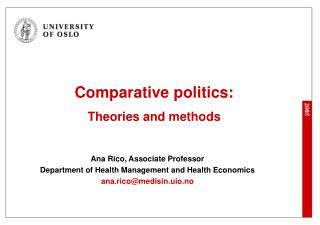 Comparative politics: Theories and methods