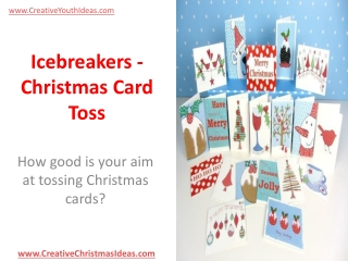 Icebreakers - Christmas Card Toss