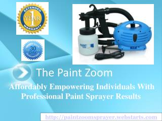 the paint zoom - the paint sprayer backed by solid reviews