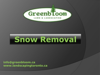 Landscaping Toronto - Snow Removal